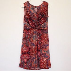 Boho Chic Printed Blouson Dress